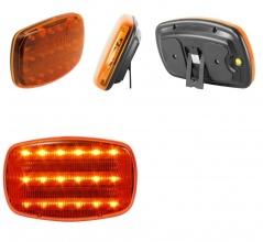 LED ЛЕД Аварийна/сигнална лампиа Маяк буркан с магнит 12/24V