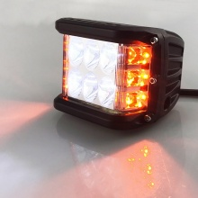 36W  Лед Бар  Халоген Аварийна Лампа Бяла + Оранжева Светлина 12-24V Dual Light Двойна Светлина Flash Блиц