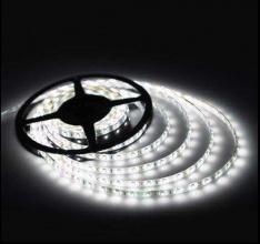 5M LED SMD Лента 12V бяла