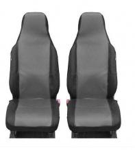 1+1 Калъфи за предни седалки Flexzon за Toyota Aygo, Citroen C1, Peugeot 107, Текстил, Сиви