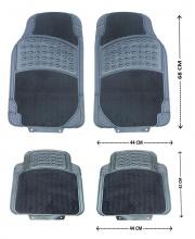Комплект луксозни автомобилни стелки предни и задни Premium гумени PVC + Мокет