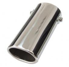 Универсален накрайник за ауспух на автомобил, 30-50мм, Дължина 15см, Хром