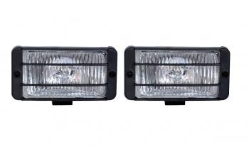 Комплект универсални халогенни светлини - фарове за мъгла - с решетки - 148mm x 75mm - 12V