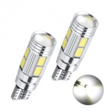 Лед Крушки За Габарит, Т10 W5W LED 10 SMD, Canbus, 12V, Бяла Светлина