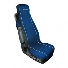 Универсален мек, комфортен калъф / тапицерия за седалка на камион - SILVIA - памучен - Volvo, DAF, Man, Scania, Mercedes, Iveco - син