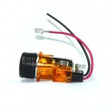 Универсална запалка за автомобил 12V с вградена светеща в оранжево светлина 28мм-29мм