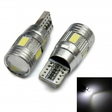 Лед Крушки За Габарит, Т10 W5W LED 6 SMD, Canbus, 12V, Бяла Светлина