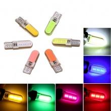 LED Лед Диодни Крушки За Габарит, Т10 W5W, COB 12-Core, 12V, 6 Цвята Светлина