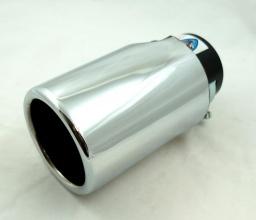Универсален накрайник за ауспух на автомобил, 38-57мм, Дължина 14.5см, Хром