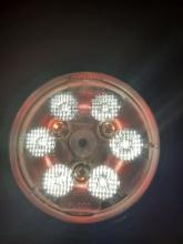 ЛЕД Диоден Халоген LED Лампа 2100lm 112mm 24W Бяла и Червена Светлина