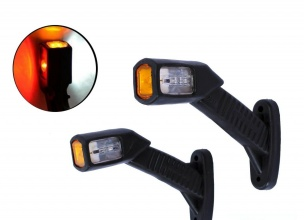 2 броя LED Диодни Странични Рогчета Маркери Габарити Светлини За Камион Тир Ремарке 12V