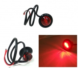 Габарит LED Светодиоден, Тип Копче, Маркер, Токос, Червен, 24V