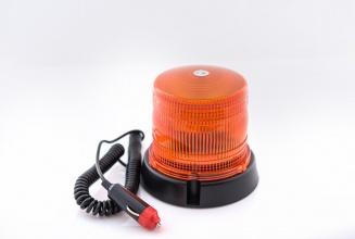 24 LED Лед Сигнална лампа, аварийна, маяк, буркан 12V с магнитно закрепване