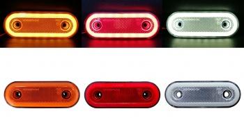 LED Диоден Габарит, Бял, Червен, Жълт, Маркер, Е-Mark, Неон Ефект, 12V-24V /0294