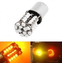 LED Лед Крушки, Мигач, 44 SMD, Canbus, 1156 (P21W), 12V, Оранжева, Жълта Светлина