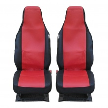 Калъфи за предни седалки Flexzon за Toyota Aygo, Citroen C1, Peugeot 107, Текстил, Червени