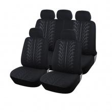 Универсална черна Авто тапицерия, калъфи за седалки, пълен комплект, 9 части