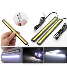 LED светодиодна дневна светлина за автомобил 12V COB DRL - 14см бяла