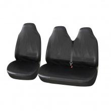 Универсални Калъфи/Тапицерия за предни седалки на бус/ван, Eко кожа, Черни