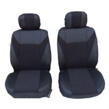 1+1 Комплект Универсални Калъфи Тапицерия За Предни Седалки За Автомобил , бус , джип цвят черен , текстил