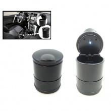 Преносим пепелник със синя LED светлина за кола/камион/офис