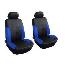 Универсални Калъфи/Тапицерия за предни седалки Flexzon, Eко кожа, Сини