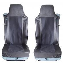 Калъф/тапицерия от плат и кожа за седалки за VOLVO FL,FE,FM16,FH16,FH12, Черни