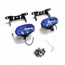 Комплект халогени, универсални предни фарове за мъгла H3 12V 55W, 87x41 мм, сини