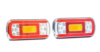 Комплект LED Светодиодни Стопове, С Букса, Ляв и Десен, 6 Функции, Е-Мark, 12V-24V