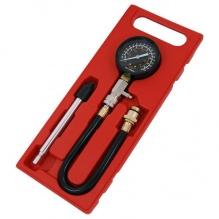 Комплект за измерване на компресия на бензинови двигатели - Neilsen Tools - 0-21 бара
