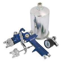 Професионален бояджийски пистолет с накрайници за грундиране и боядисване и регулатор - 1 литър