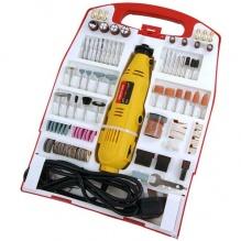 233 части - Комплект мултифункционален прав шлайф с набор накрайници - полиране гравиране рязане - Neilsen Tools