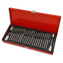 44 части - Комплект стоманени битове и държачи в метална кутия - Neilsen Tools