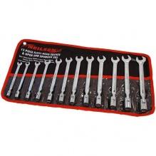12 части - Комплект комбинирани гаечни ключове с лула с чупеща глава - от 8мм до 19мм - Neilsen Tools
