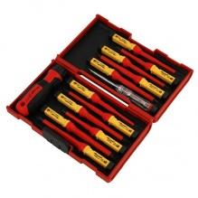 13 части - Професионален комплект електроизолирани отвертки за работа до 1000 волта - Neilsen Tools