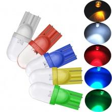 LED Лед Диодни Крушки За Табло, Габарит, Т10 W5W, 1X LED, 12V, 5 Цвята Светлина