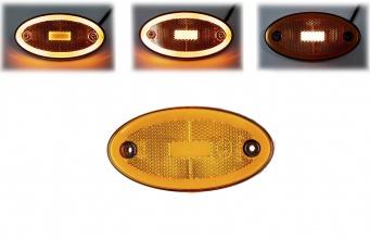 LED Светодиоден Габарит, 116mm x 60mm, Оранжев, Жълт, Неон Ефект, Три Функции,12V-24V