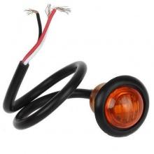 Габарит LED Светодиоден, Тип Копче, Маркер, Токос, Оранжев, Жълт, 12V