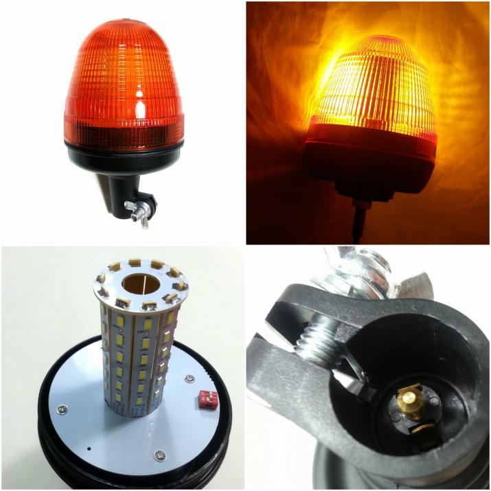 LED ЛЕД Аварийна/сигнална лампa маяк/буркан 12/24V