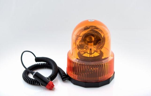 Въртяща сигнална/аварийна оранжева лампа 12V Маяк с магнитна база, 25W