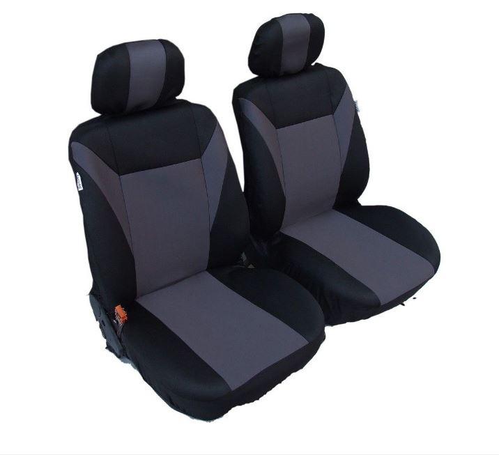 1+1 Универсални калъфи тапицерия за предни седалки Сиви