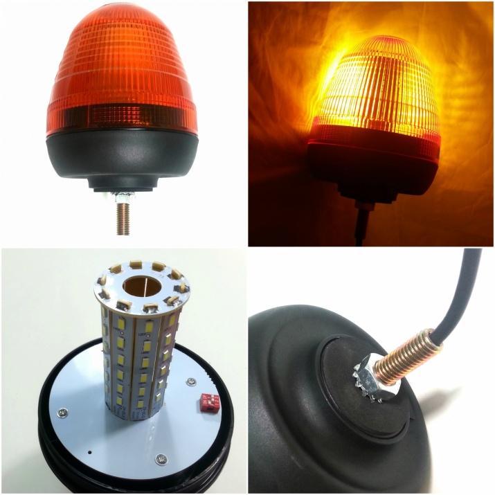 LED ЛЕД Аварийна/сигнална лампа Маяк буркан 12/24V