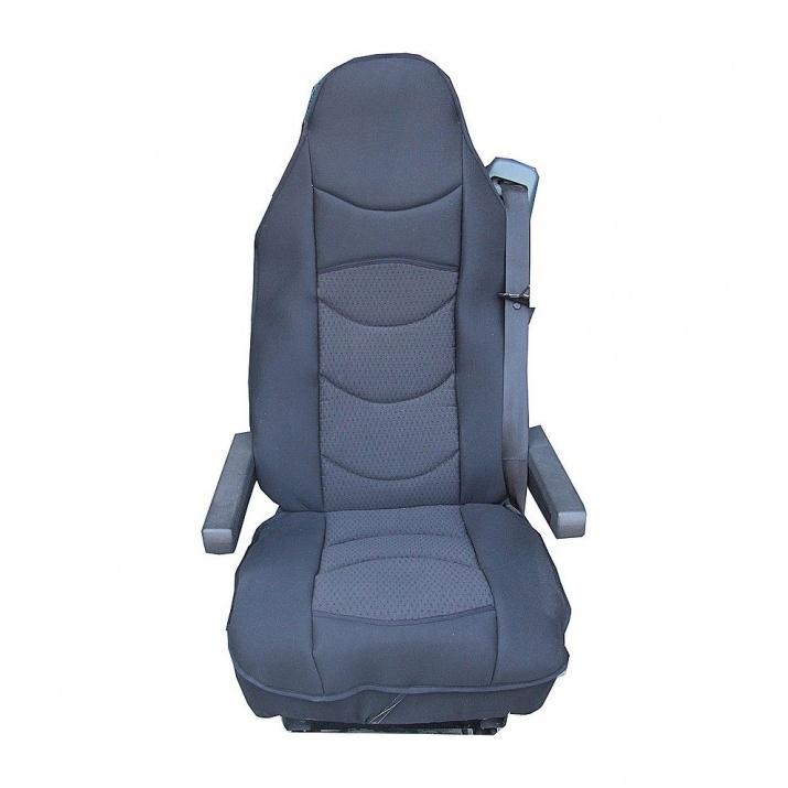 Универсален калъф/тапицерия за седалка на камион Flexzon тип масажор, Черен