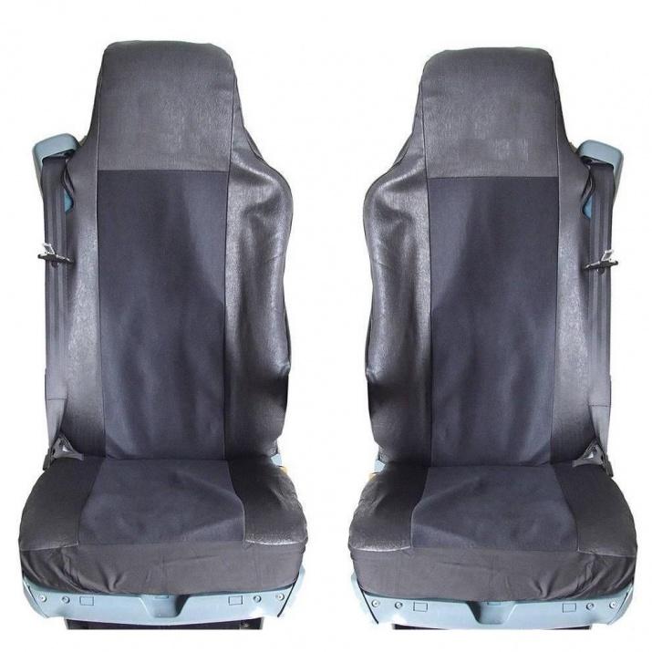 Калъф/тапицерия от плат и кожа за седалки за MAN GA,TGL,TGX,TGS, Черни