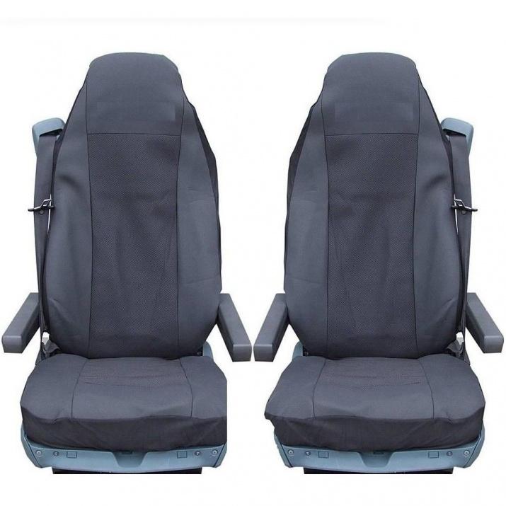 Калъф/тапицерия за седалки за MERCEDES AXOR, ATEGO, ACTROS, Черни
