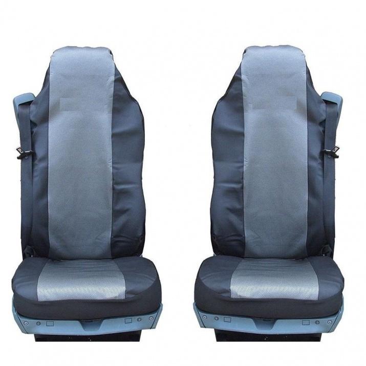 Калъф/тапицерия от плат и кожа за седалки за MERCEDES AXOR, ATEGO, ACTROS, Сиви