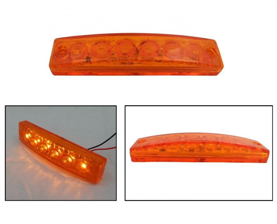 LED SMD светодиодни габарит, токос, маркер 24V оранжеви