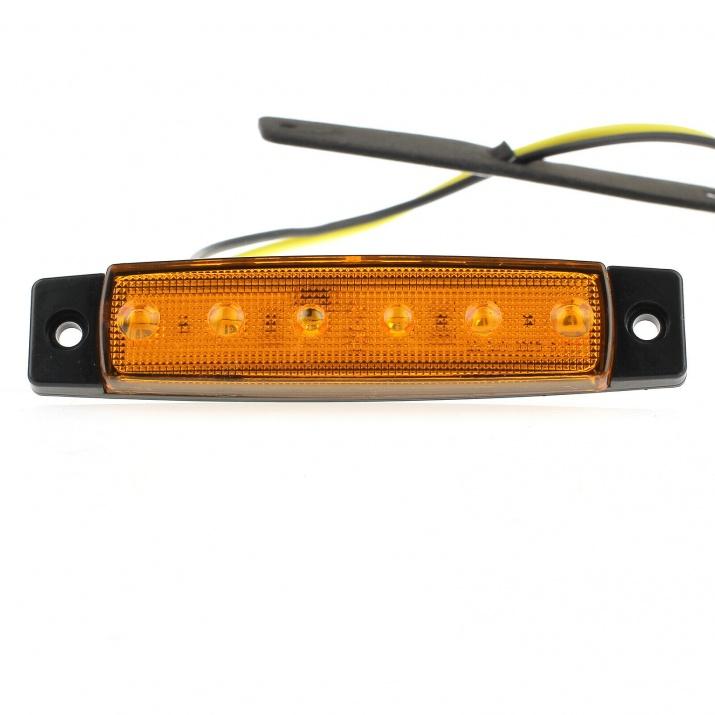 LED Светодиодни габарити, токоси, рибки 12v оранжеви