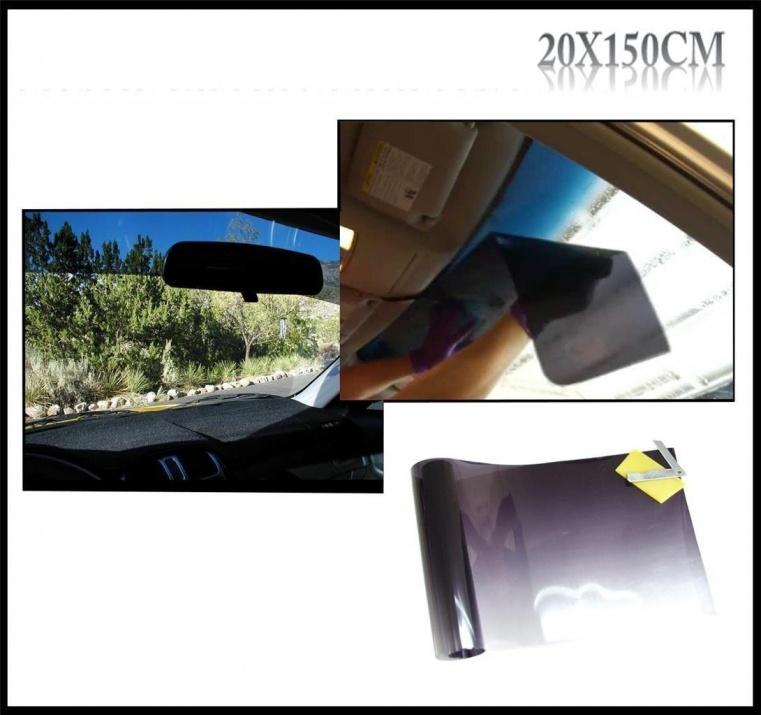 Черен сенник тип лента 20х150см Авто Фолио за затъмняване на стъкла, прозорци