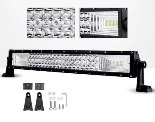 55 См 324W Мощен 7D 7Д Led Bar Лед Диоден Бар Прожектор 12V 24V